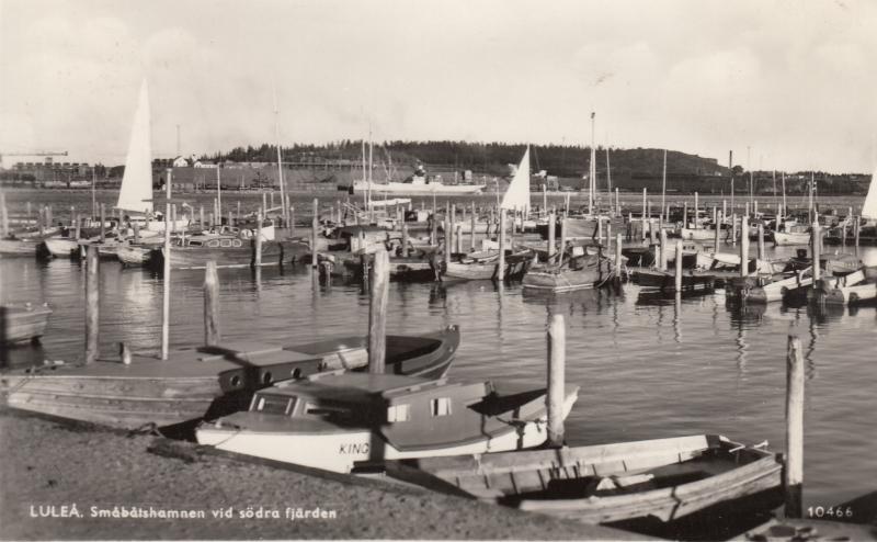 smabatshamnen vid sodra fjarden lulea 1959